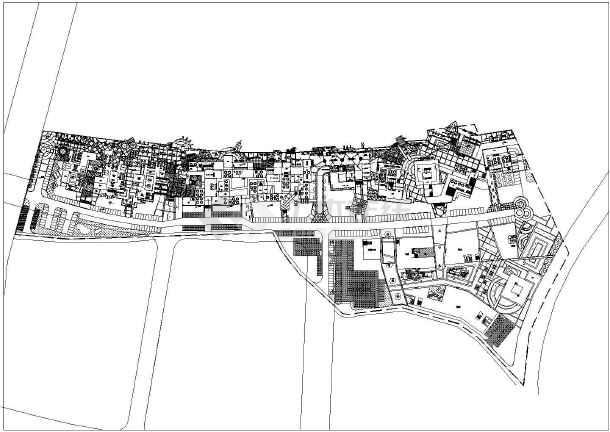 某地酒吧街景观规划设计cad平面图