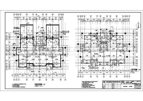 框架剪力墙结构多层住宅楼建筑施工图