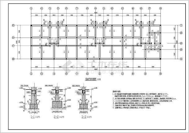 青岛某地六层砖混结构住宅楼施工图纸