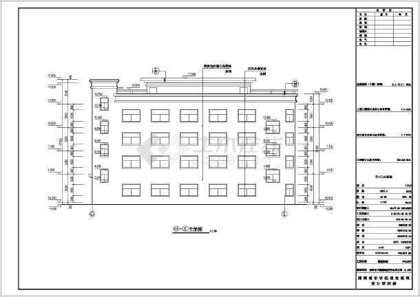 某地四层框架结构宾馆建筑设计施工图