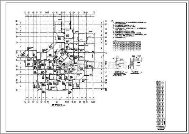 28层高层框剪结构塔式商住楼结构施工图