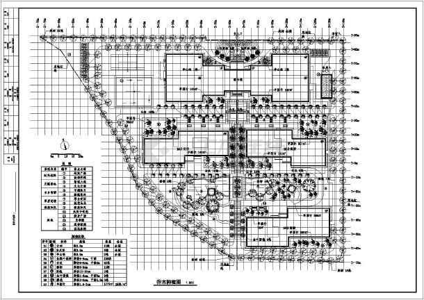 某公寓居住小区绿化施工图及配套喷灌 景观节点施工图