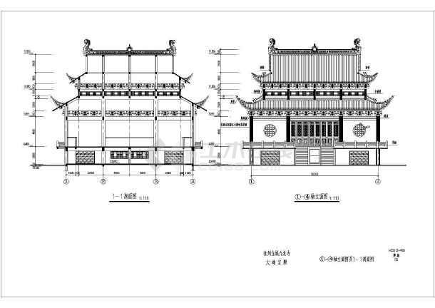 某框架结构休闲养生殿重檐歇山建筑方案图