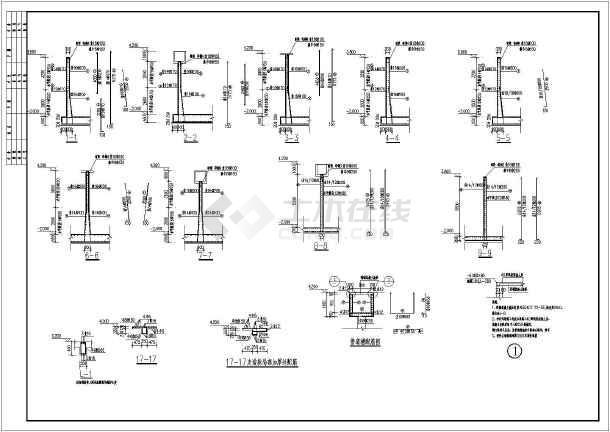 某地一套生化池钢筋混凝土结构施工图_cad图冷库安装图纸图片
