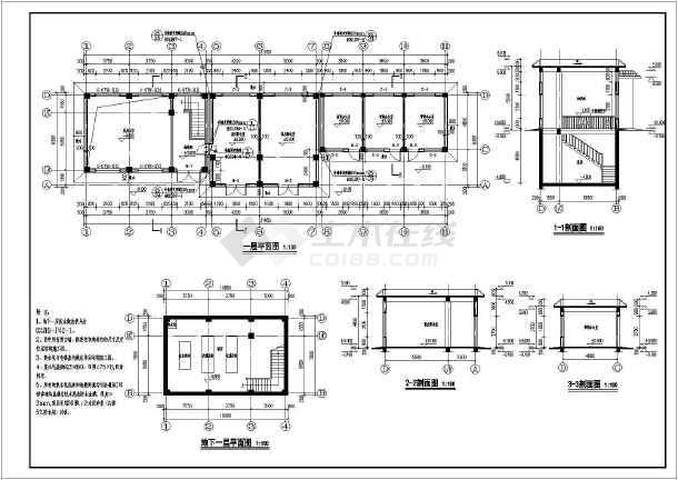 某地农村总平面图及分层方案设计泵房建筑图纸屋六合无绝对图片