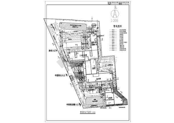 某医院院区管线综合设计图(共4张)
