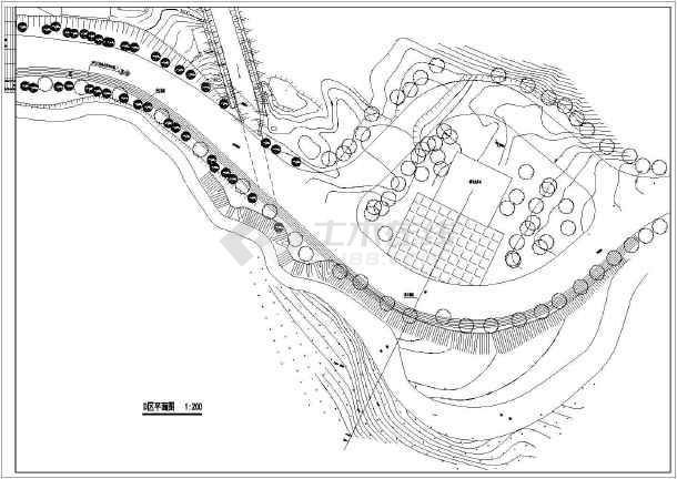 某旅游景区规划图及分区规划平面图
