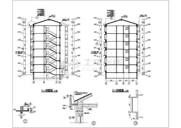 沁源县某地6层砌体结构住宅建筑设计图纸