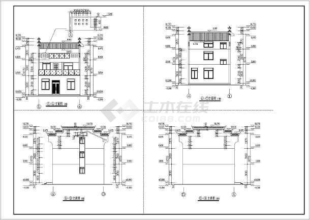 安康市三层砖混结构新农村安置房建筑设计施工图