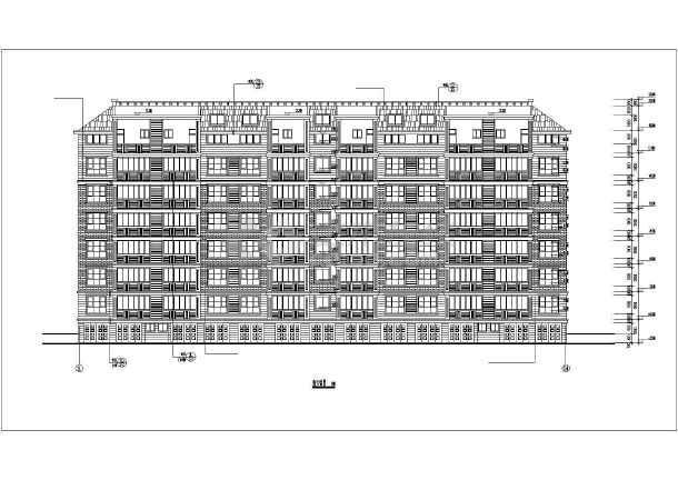 某地6层坡屋顶住宅楼建筑设计施工图
