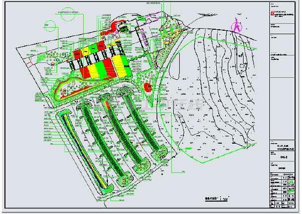 首山景区公园园林绿化图施工图纸