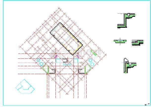 会所(带恒温游泳池)建筑设计图图片