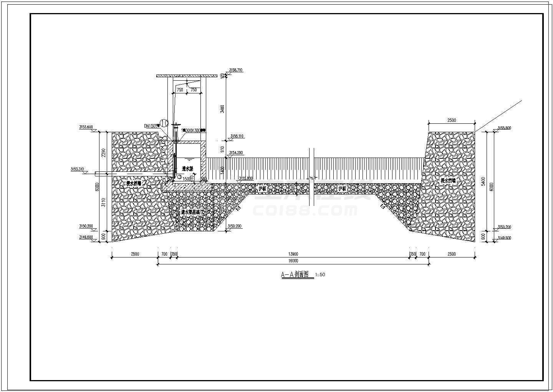 【四川】小型河道拦河坝取水工程施工图