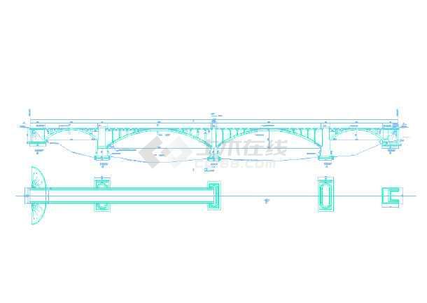 双曲拱桥加固竣工图图片3
