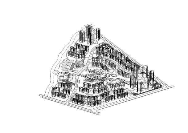 某安家小区3d立体规划总平面图纸图片1