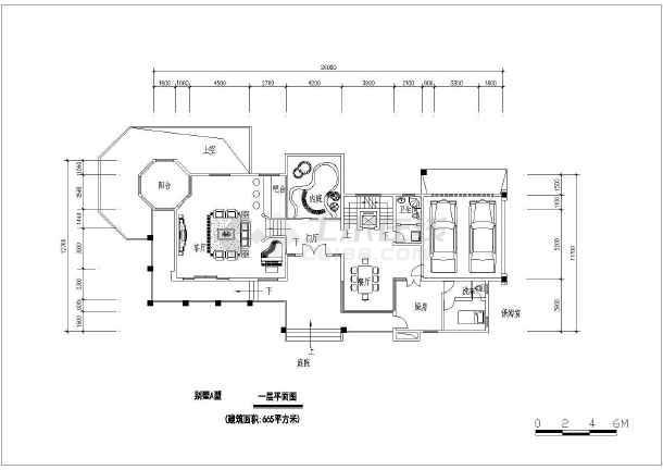 带地下室豪华三层半别墅建筑设计图