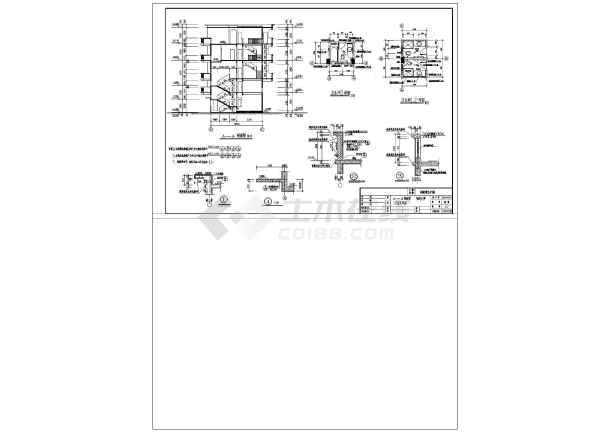 非常实用的一套四层图纸私宅建筑CAD施工设dnf魔兽升级别墅图片