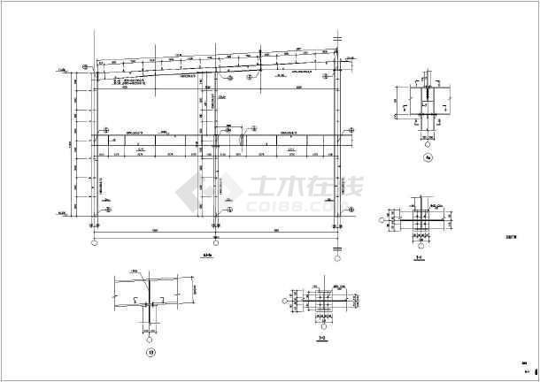 某地木屋钢结构图纸结构设计施工图_cad多层平方厂房v木屋10图纸米小图片