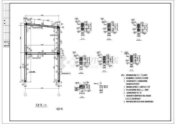 某商業廣場售樓部輕鋼結構設計施工圖