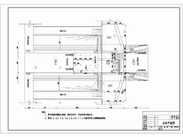 某处的节制水闸平面以及结构施工图纸