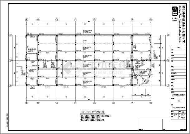 某四层框架机械厂房结构设计施工图_cad图纸下载-土木