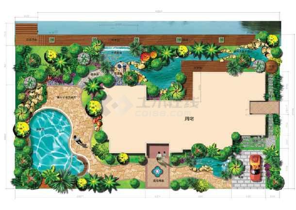 别墅园林效果图图片