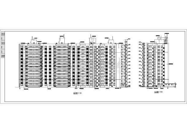 地12层剪力墙结构单元式住宅建筑施工图