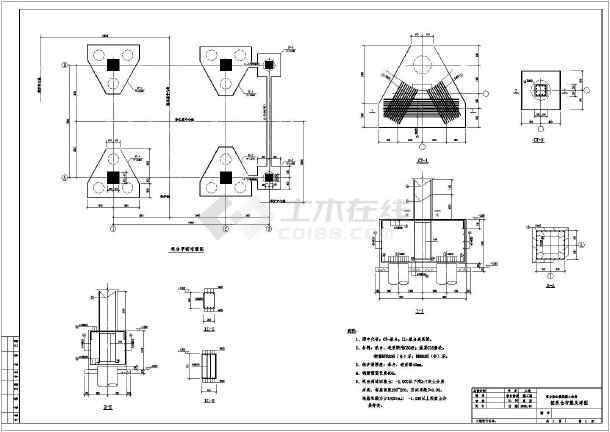 某地大型结构窗子v结构高炉图纸施工图_cad图tc表示框架重力图片