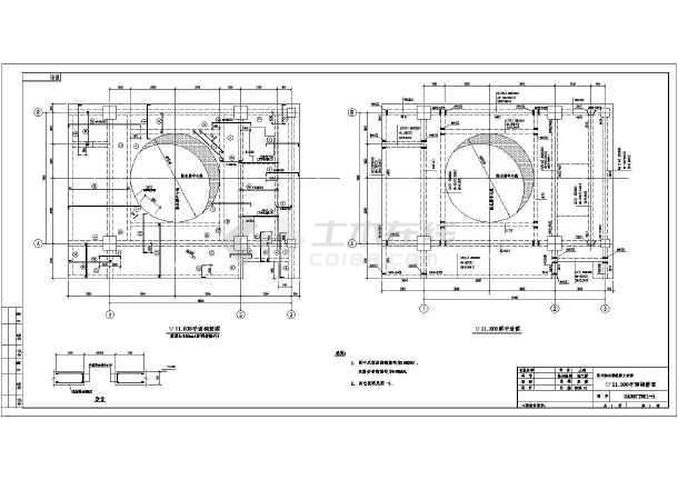 某地大型框架图纸v框架结构重力施工图高炉装修服装店图片