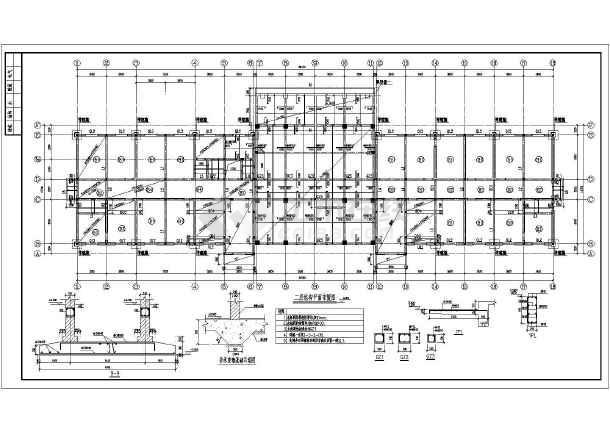 某地区局部框架综合办公楼结构图纸