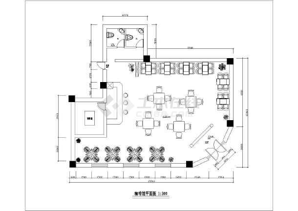 某地区单层咖啡馆建筑装修设计方案图
