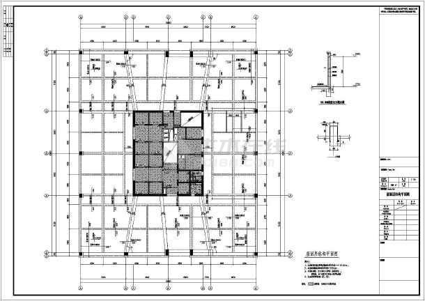 某地区150m框架-核心筒结构设计图纸