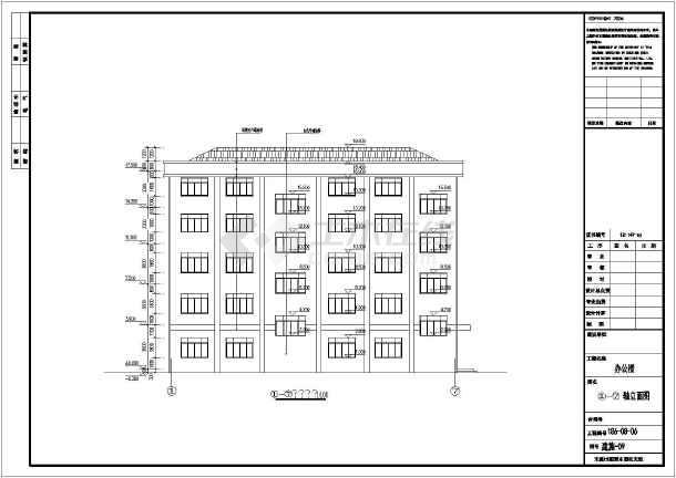 【框架结构图】某地办公楼框架结构图(含建筑图)_cad