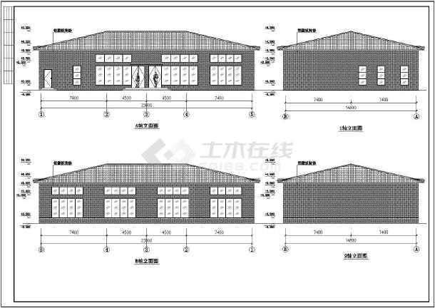 四坡屋顶,钢结构图纸节点详细