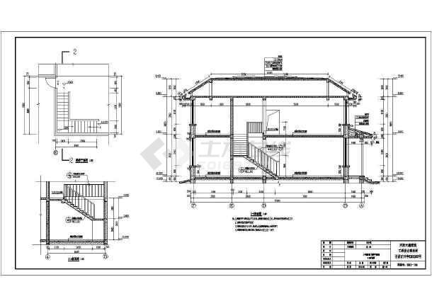 某地2层砌体结构别墅建筑设计方案图纸