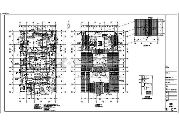 本图纸为某地框架结构仿古四合院全套施工图,功能为小型酒店,古建