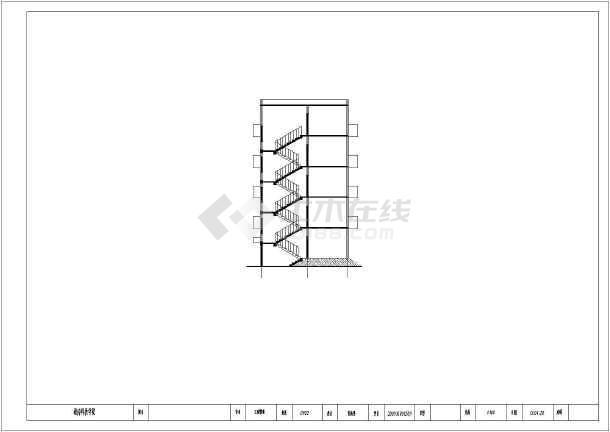 单元式多层住宅楼设计图-三单元单元式六层住宅楼建筑设计CAD施工