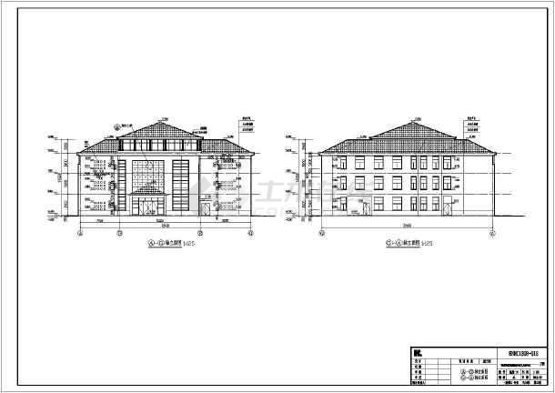 【湖南】三层机械精神病框架建筑,结构图(含计算书)学还是v机械好医院平面设计好图片