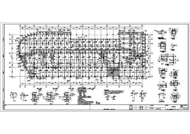 各层剪力墙及框架柱结构详图,各层平面布置图,机房层平面布置图,各层