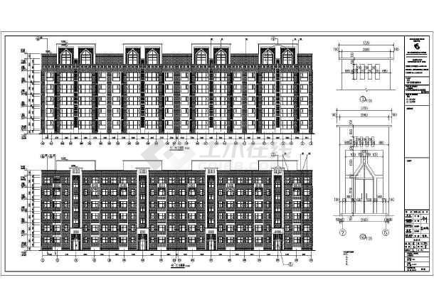 某地6层框架结构住宅楼建筑设计施工图-图1025fa混多棉机图纸仓图片