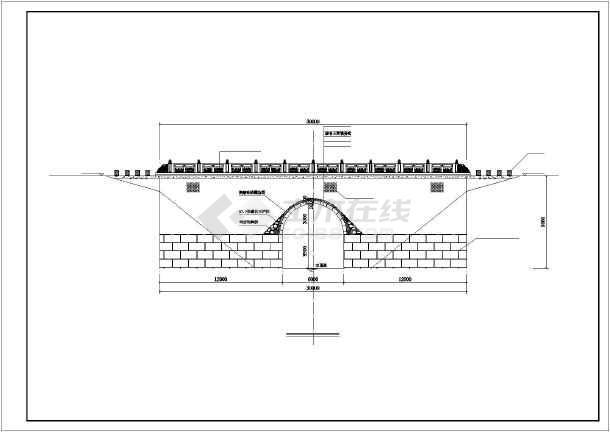 某单桥洞石拱桥修复工程设计施工图