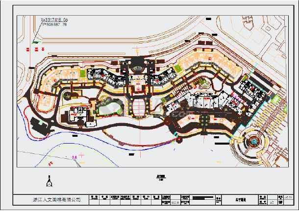 【浙江】某高端住宅小区景观总平面图