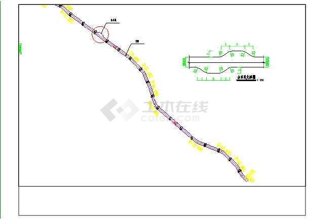 某地水泥图纸图纸下载施工图_cad村屯硬化道路v水泥零件图片