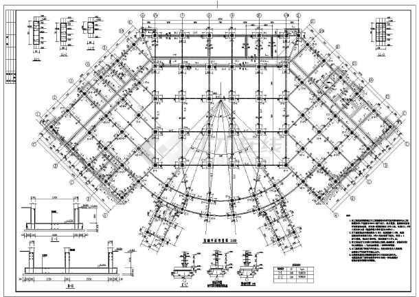框架结构设计施工图,包括结构设计总说明