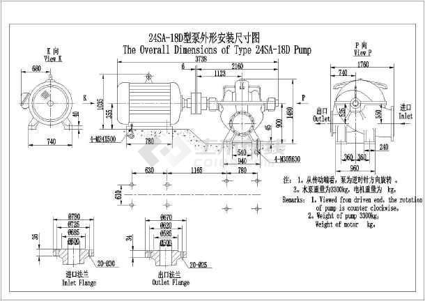 8种工业用图纸图纸减速外形结构图_cad尺寸下神刚75-8安装行走箱水泵图片