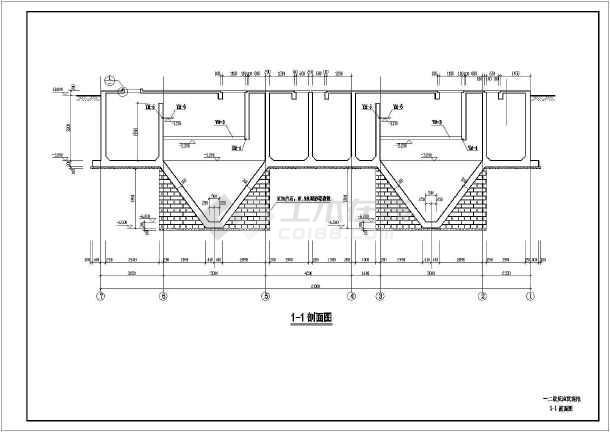某地下式锥型沉淀池结构设计施工图