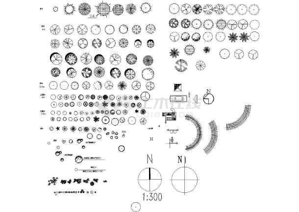 cad树图块(包括手绘效果图)
