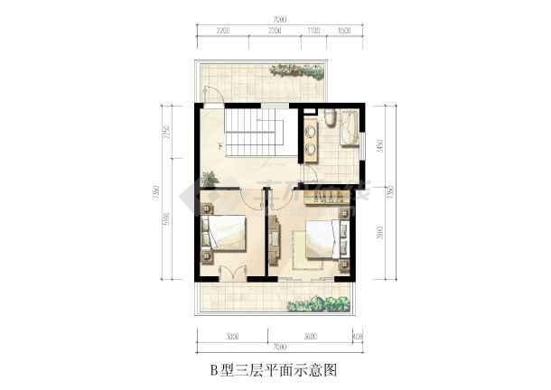 一套完整的别墅施工图 B型建筑 结构 效果图