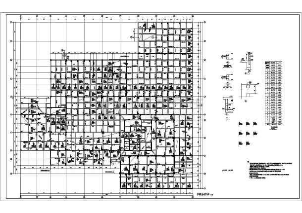 某宾馆框架剪力墙结构施工图(含车库)