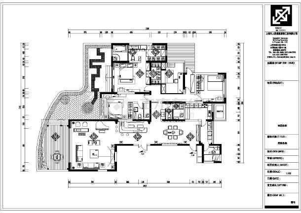 某地四室两厅三卫图纸装饰设计施工图(cad图纸cad住宅打开死就卡图片